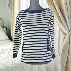 Kate Spade ♠️ navy stripe knit top